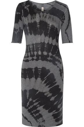 RAQUEL ALLEGRA Tie-dyed stretch cotton-blend jersey dress