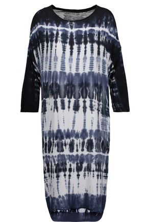 RAQUEL ALLEGRA Tie-dyed stretch-jersey dress