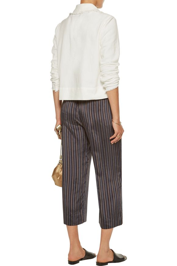 Cropped cotton-twill blazer | RAQUEL ALLEGRA | Sale up to 70% off | THE  OUTNET