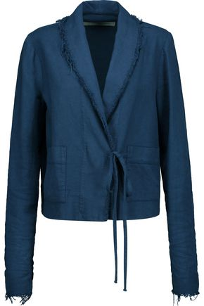 RAQUEL ALLEGRA Cropped cotton-twill blazer