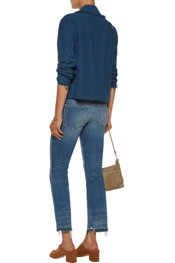 Cropped cotton-twill blazer   RAQUEL ALLEGRA   Sale up to 70% off   THE  OUTNET