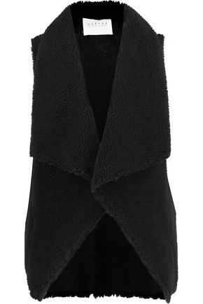 VELVET by GRAHAM SPENCER Faux shearling gilet