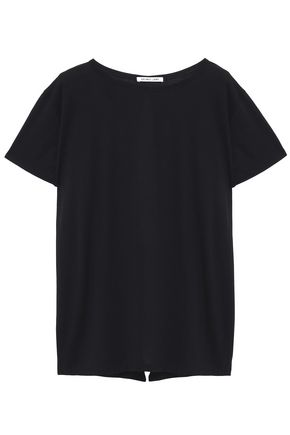 HELMUT LANG Split-back modal and cotton-blend jersey T-shirt