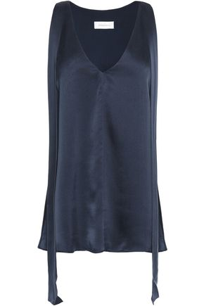 ZIMMERMANN Tie-front washed-silk tank