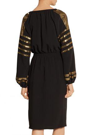 ALTUZARRA Arabella sequin-embellished crepe dress