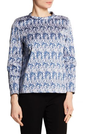 WES GORDON Stretch-jacquard top