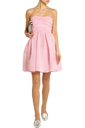 CARVEN Cotton-blend organza mini dress
