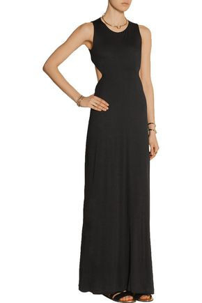 THAKOON Addition cutout stretch-jersey maxi dress