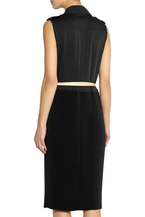 VICTORIA BECKHAM Pleated crepe dress