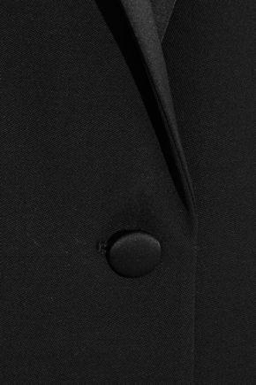 VICTORIA BECKHAM Satin-trimmed wool tuxedo jacket
