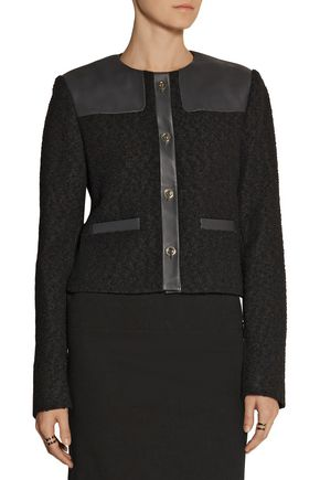 JASON WU Wool-bouclé and leather jacket