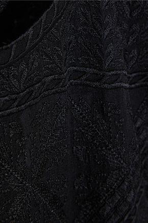 ISABEL MARANT Adelia embroidered silk-georgette mini dress