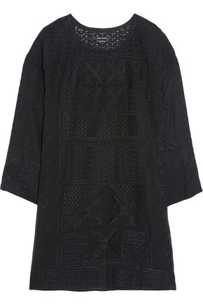 ISABEL MARANT Adelia embroidered silk-georgette mini dress