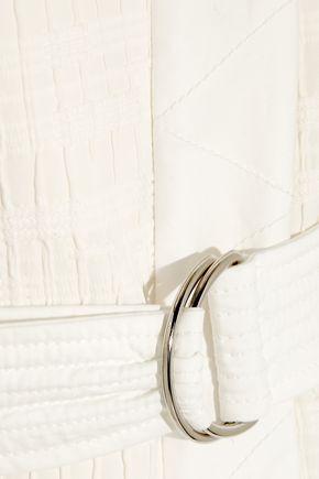 VANESSA BRUNO Cast belted textured cotton-blend vest