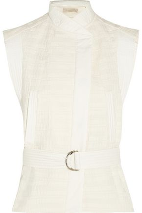 VANESSA BRUNO Cast belted textured cotton-blend vest