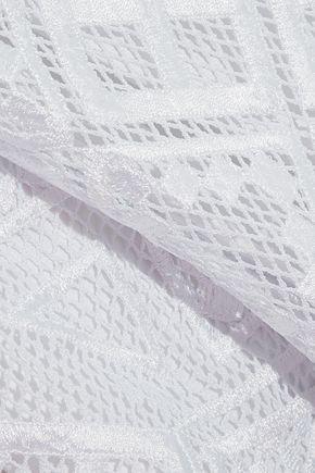 TEMPERLEY LONDON Crochet-knit mini dress