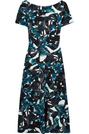 ERDEM Vanya printed stretch-ponte midi dress