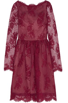 ERDEM Dolores cotton-blend lace mini dress
