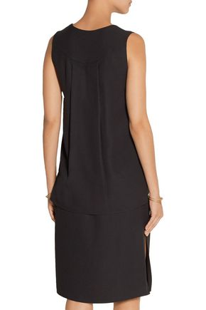 ADAM LIPPES Layered crepe dress