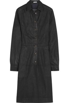 TOMAS MAIER Coated-denim shirt dress