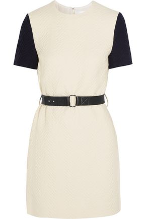 VICTORIA, VICTORIA BECKHAM Belted cloqué mini dress