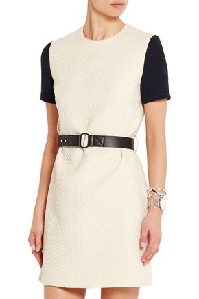 VICTORIA, VICTORIA BECKHAM Belted cloqué mini dress