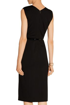 JASON WU Belted jacquard-tweed and cady dress