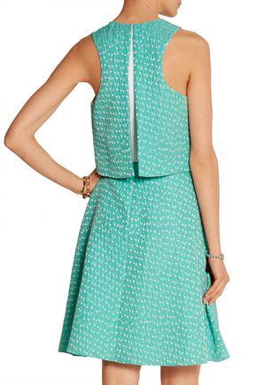 PRABAL GURUNG Silk-organza and cloqué dress