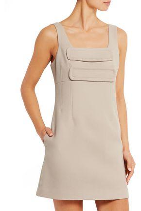 TOPSHOP UNIQUE Inverness wool-blend mini dress