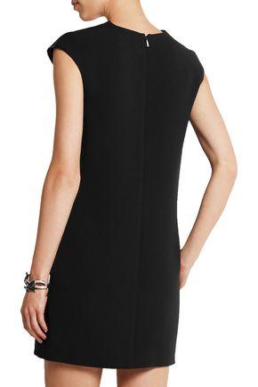 SAINT LAURENT Sequin-embellished wool-crepe mini dress