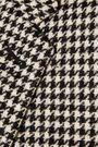 SAINT LAURENT Suede-trimmed houndstooth wool-tweed blazer