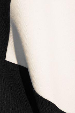 SAINT LAURENT Two-tone wool mini dress