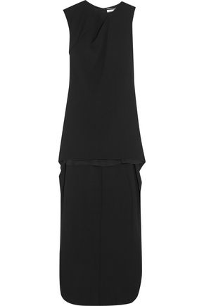 SAINT LAURENT Draped crepe gown