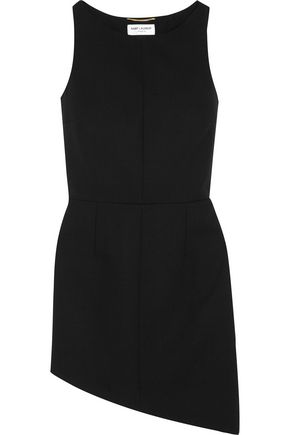 SAINT LAURENT Asymmetric wool mini dress