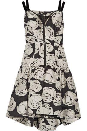 OSCAR DE LA RENTA Fil coupé silk-blend dress