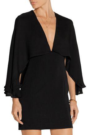 HANEY Adriana cape-back stretch-silk mini dress