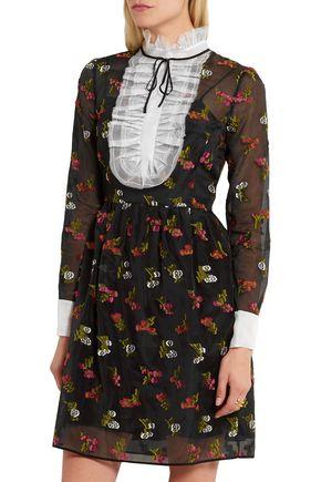ERDEM Katy fil coupé silk-organza mini dress