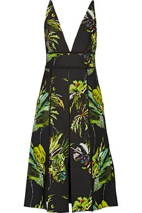 PROENZA SCHOULER Cutout printed silk dress