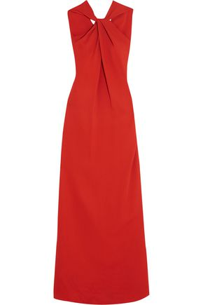 LANVIN Twist-front stretch-crepe gown