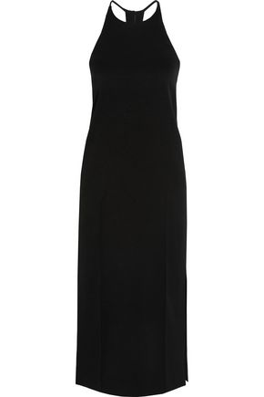 EDUN Satin and crepe midi dress