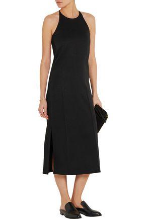 EDUN Satin and crepe midi dress