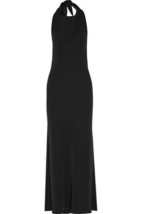 THE ROW Kaila stretch-cady halterneck maxi dress