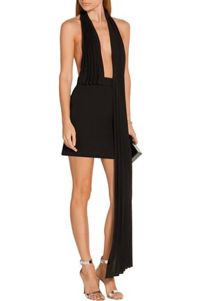 ANTHONY VACCARELLO Draped crepe halterneck mini dress