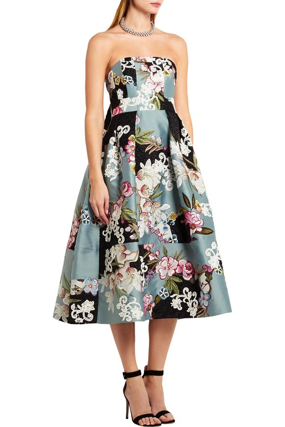 Green Carpet Challenge Alina appliquéd duchesse-satin and brocade gown    ERDEM   Sale up to 70% off   THE OUTNET