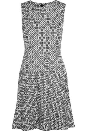 TORY BURCH Cotton-blend jacquard mini dress
