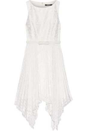 BADGLEY MISCHKA Belted lace midi dress