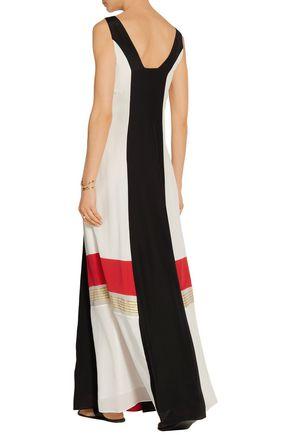 ZEUS + DIONE Pythian color-block silk crepe de chine maxi dress