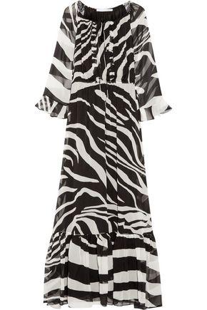 DIANE VON FURSTENBERG Simonia zebra-print silk-chiffon maxi dress