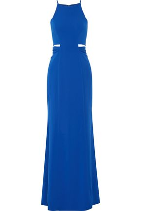 BADGLEY MISCHKA Cutout crepe gown