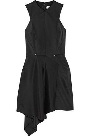 ESTEBAN CORTAZAR Asymmetric stretch-cady mini dress